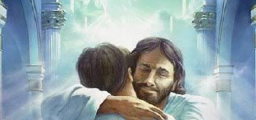 jsus hugging