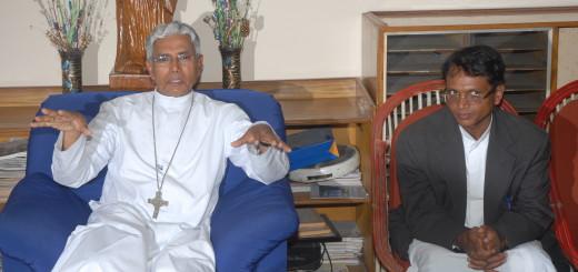Fr Maria with Archbishop Bhopal