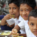 Midday meals brings smiles