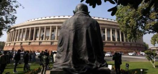 Mahatma Gandhi watches as MPs recommend their own increment