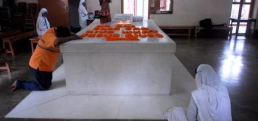 Mother Teresa's tomb at Mother House in Kolkata