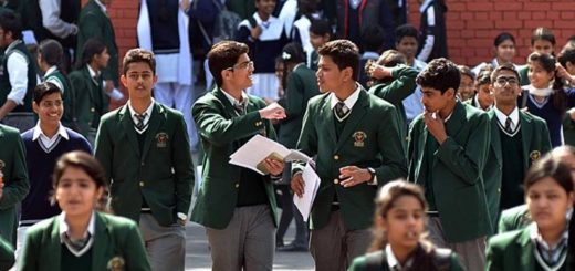 Students coming out after their first paper of Board Exam of Matric, at GMSSS 16 of Chandigarh on Monday, March 03 2014. Express photo by Kshitij Mohan