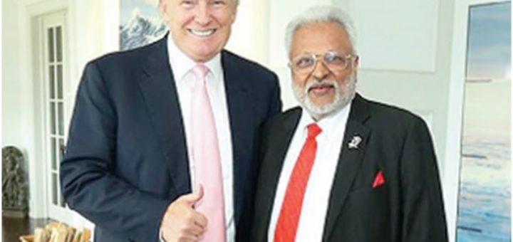 Shalabh Kumar with Donald Trump before Trump became President