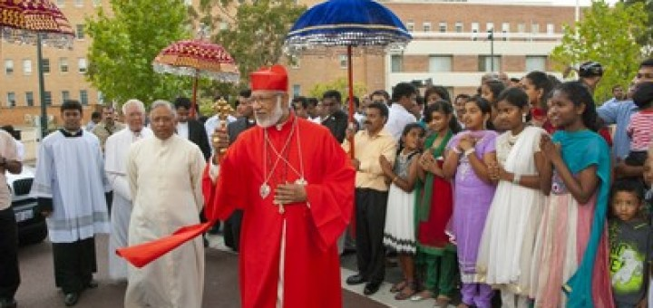 Image result for cardinal george alencherry with a garland of notes