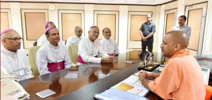 Bishops meet UP CM Yogi