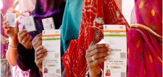 Rajasthan women with Aadhar card