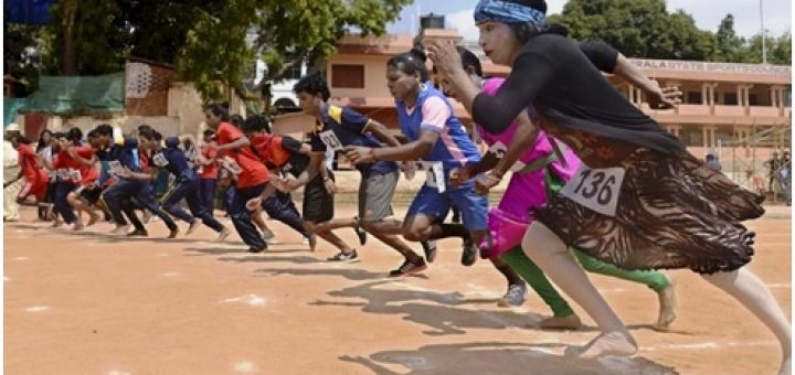 Transgenders take part in the first ever athletics in India in Kerala