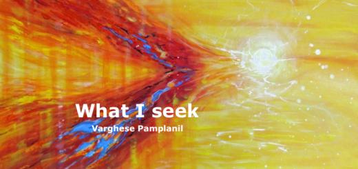 What I seek