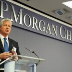 IMAGE DISTRIBUTED FOR JP MORGAN CHASE - Jamie Dimon, JP Morgan & Chase Co. Chairman and CEO, discusses the impact of The Fellowship Initiative, Monday, June 23, 2014, at JPMorgan Chase Headquarters in New York. The expanded Fellowship Initiative enrolls young men of color in Chicago, Los Angeles, and New York City in a multi-year hands-on enrichment program that includes academic, social and emotional support.  (Photo by Diane Bondareff/Invision for JPMorgan Chase/AP Images)